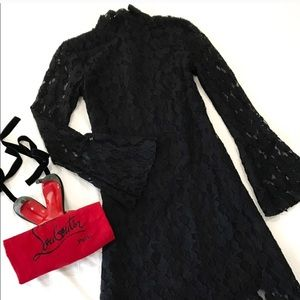 INC semi-formal black lace dress with sleeves